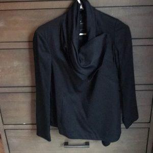 All Saints cowl neck blazer jacket